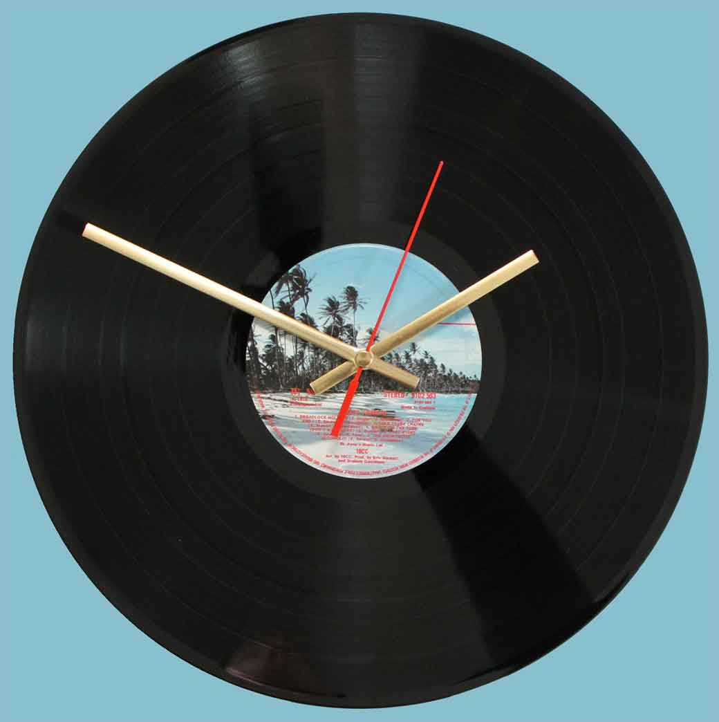 10cc – Bloody Tourists - vinyl record clock