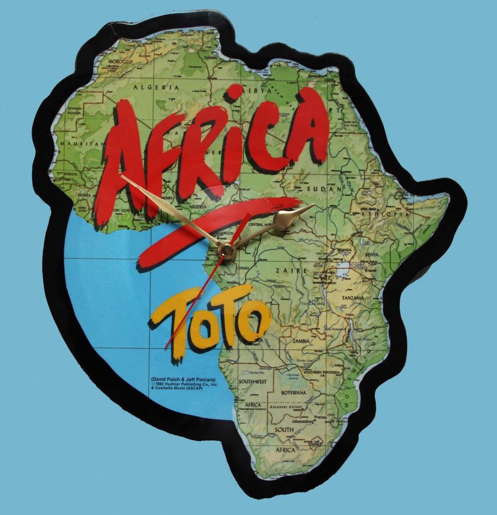 Toto Africa Shaped Vinyl Vinyl Clocks