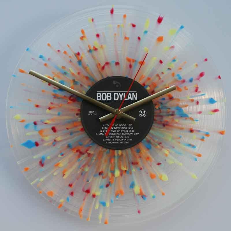 Bob Dylan Bob Dylan Splatter Vinyl Vinyl Clocks