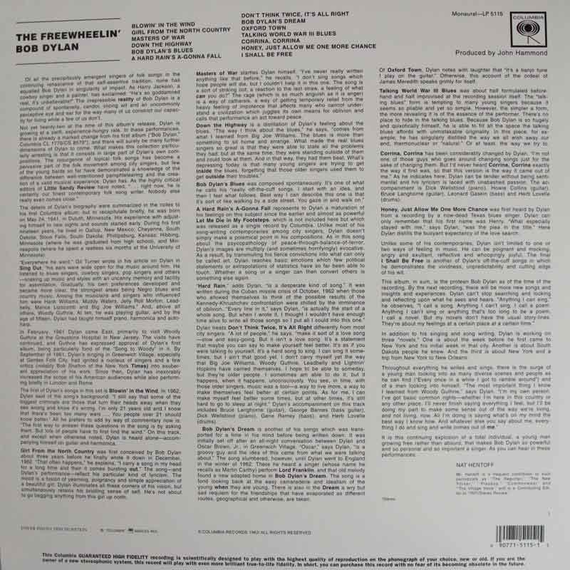 Bob Dylan The Freewheelin Vinyl Clocks