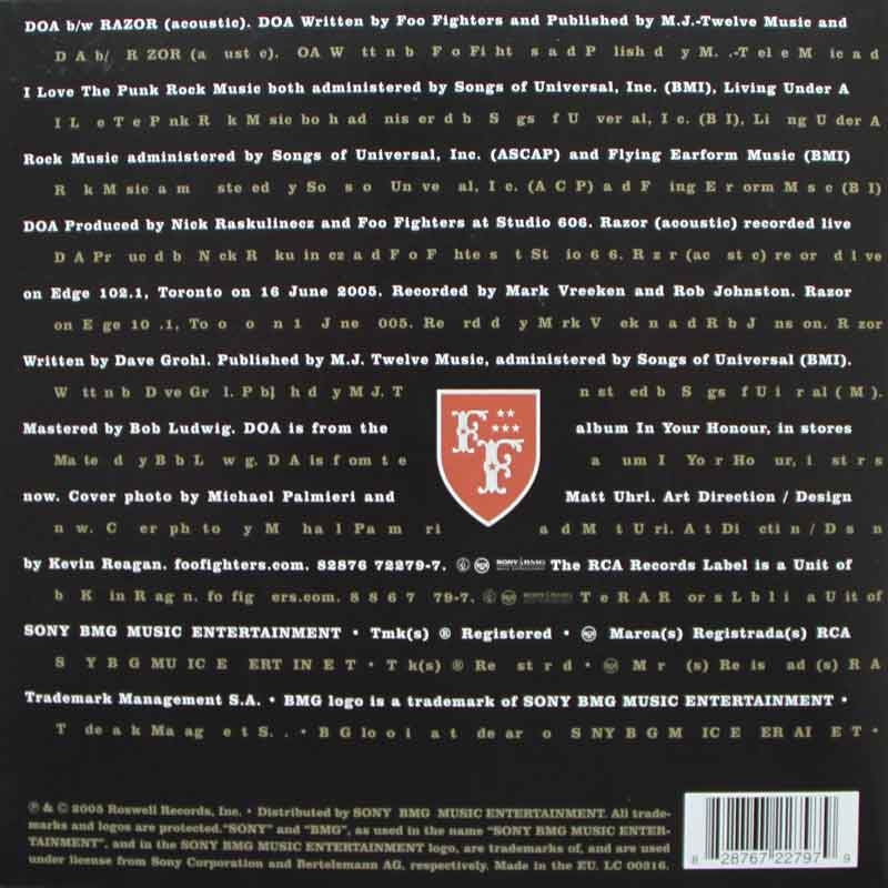 Foo Fighters Doa Vinyl Clocks