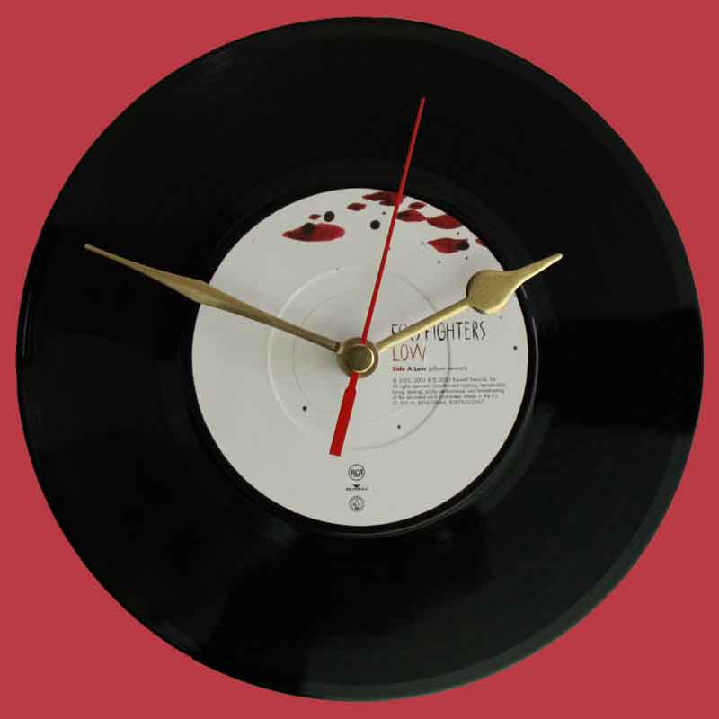 Foo Fighters Low Vinyl Clocks