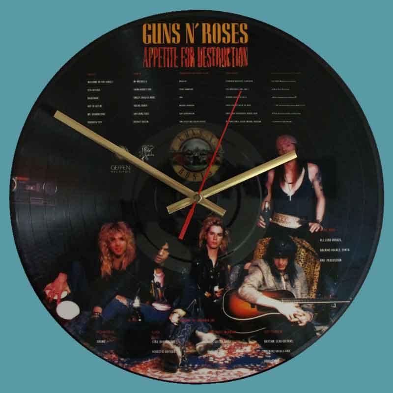 Guns N Roses Appetite For Destruction Vinyl Clocks