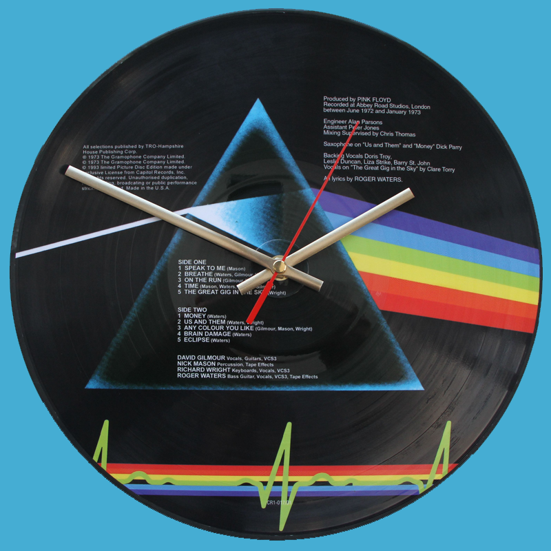 Pink Floyd The Dark Side Of The Moon Vinyl Clocks