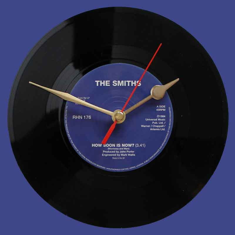 the smiths how soon is now vinyl clocks. Black Bedroom Furniture Sets. Home Design Ideas