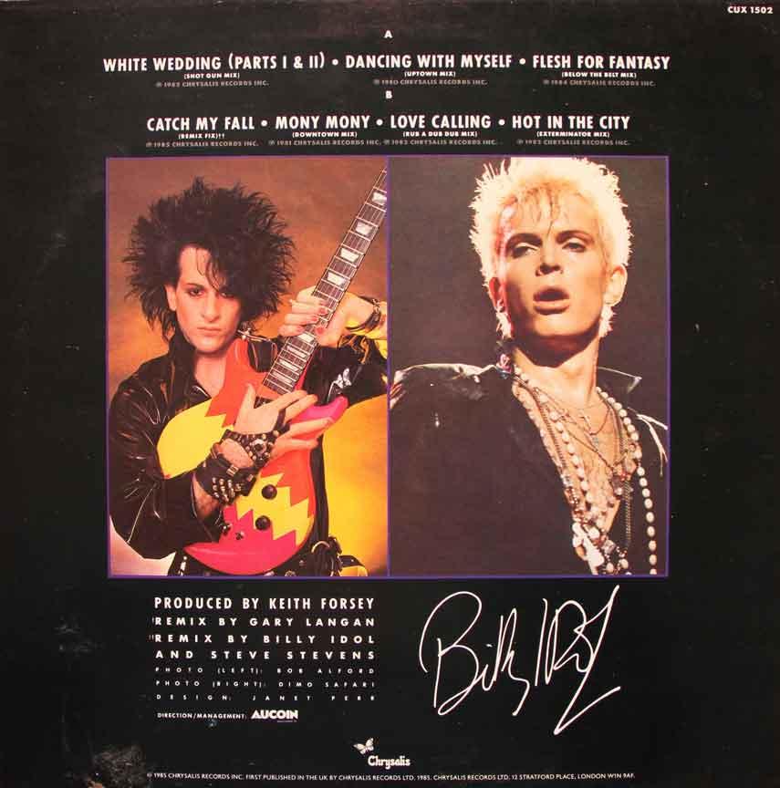 Billy Idol Dancing With Myself Album