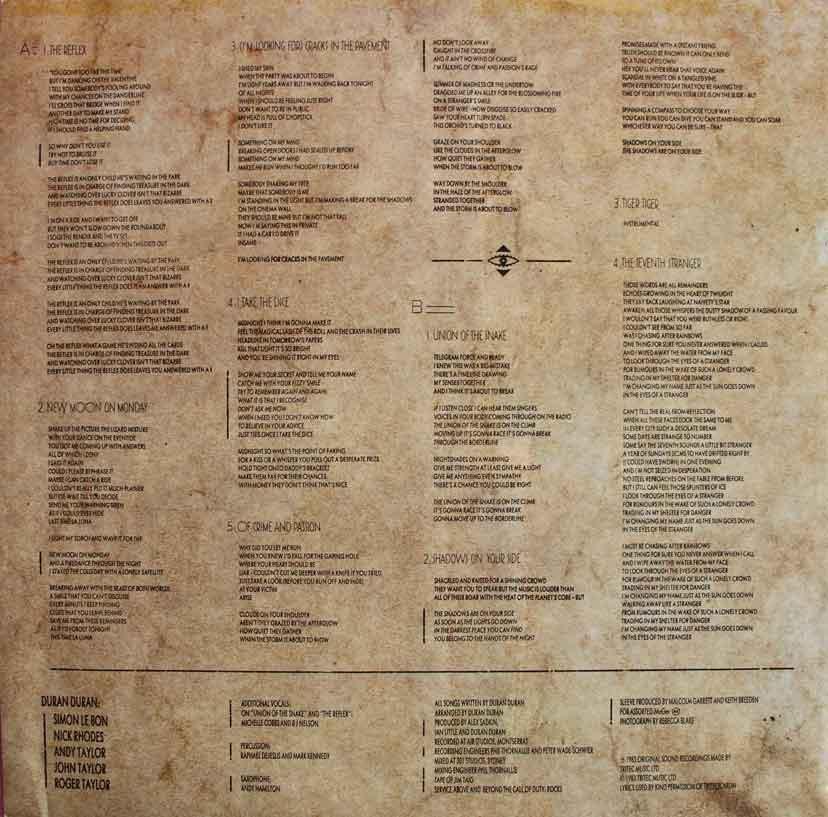 Duran Duran Seven And The Ragged Tiger Vinyl Clocks