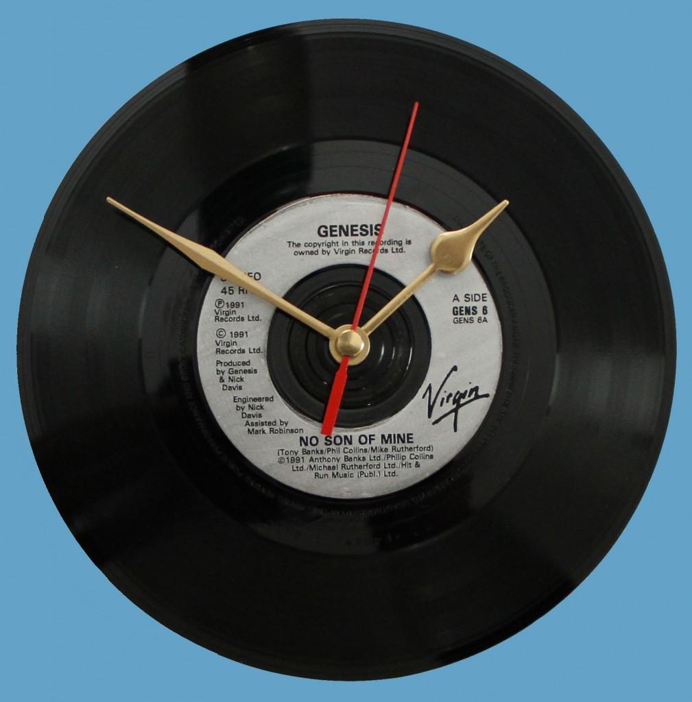genesis no son of mine vinyl clocks. Black Bedroom Furniture Sets. Home Design Ideas