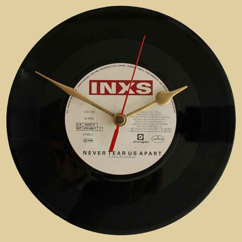 INXS - Never Tear Us Apart - Vinyl Clocks