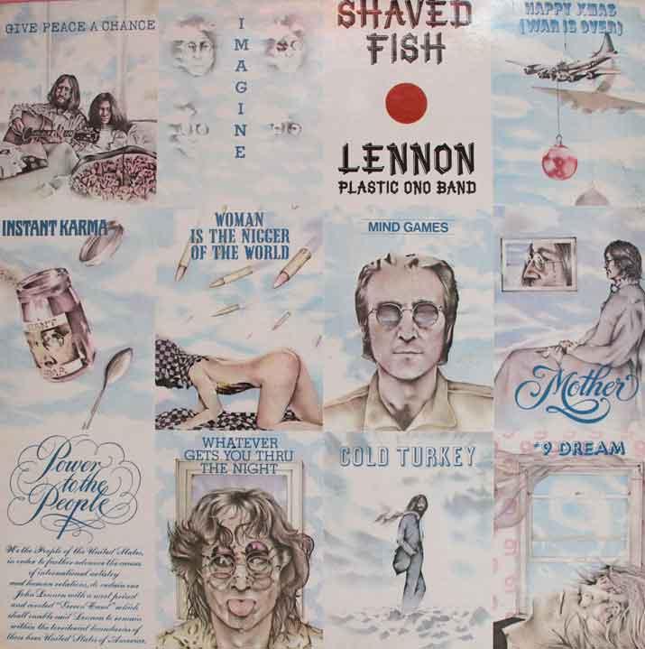 John lennon shaved fish vinyl clocks for John lennon shaved fish