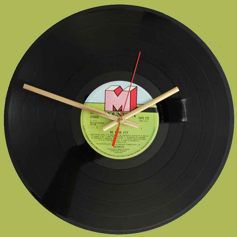 Nazareth No Mean City Vinyl Clocks