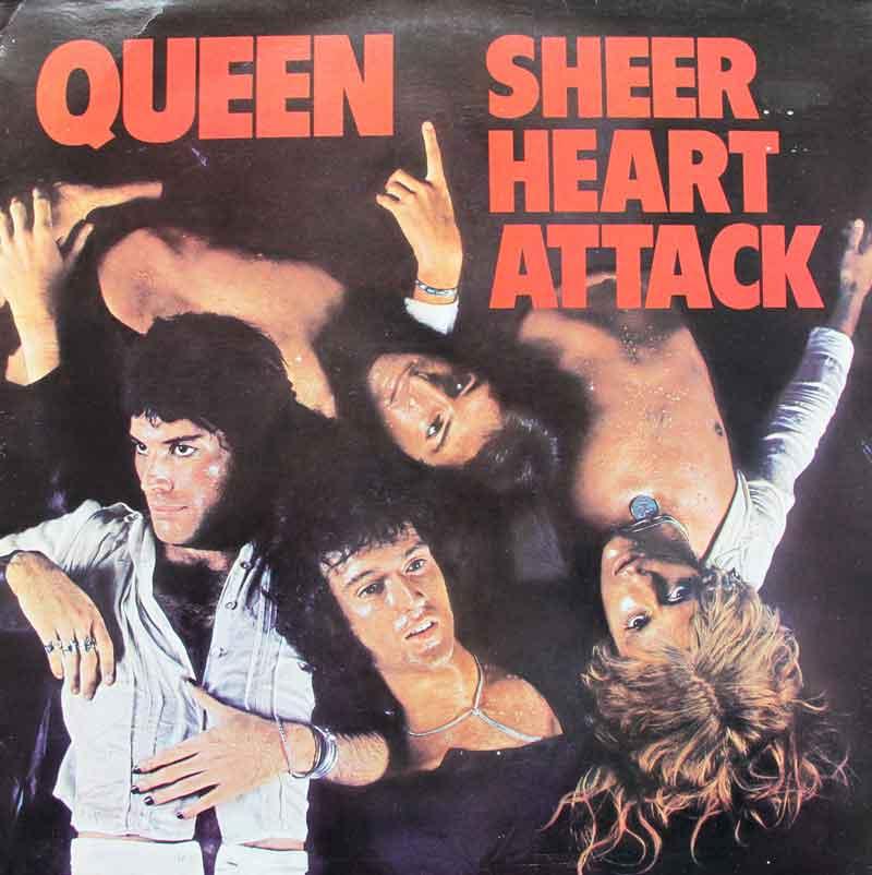 Αποτέλεσμα εικόνας για SHEER HEART ATTACK-Queen vinyl