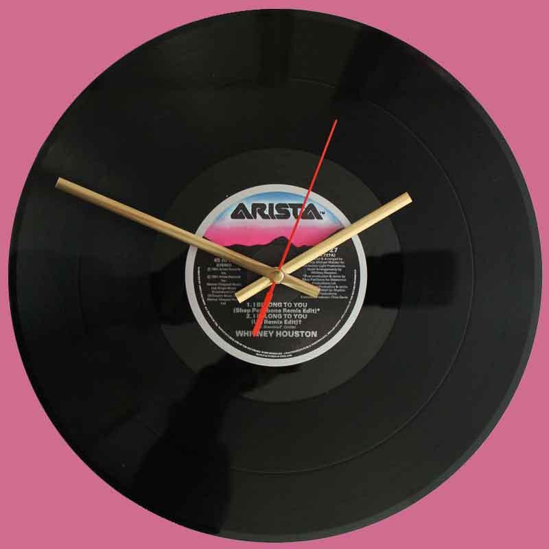 Whitney Houston I Belong To You Vinyl Clocks