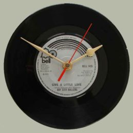 bay-city-rollers-give-a-little-love-vinyl-record-clock-solid-1975