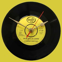 st-winifreds-school-choir-there's-noone-quite-like-grandma-vinyl-record-clock-1980
