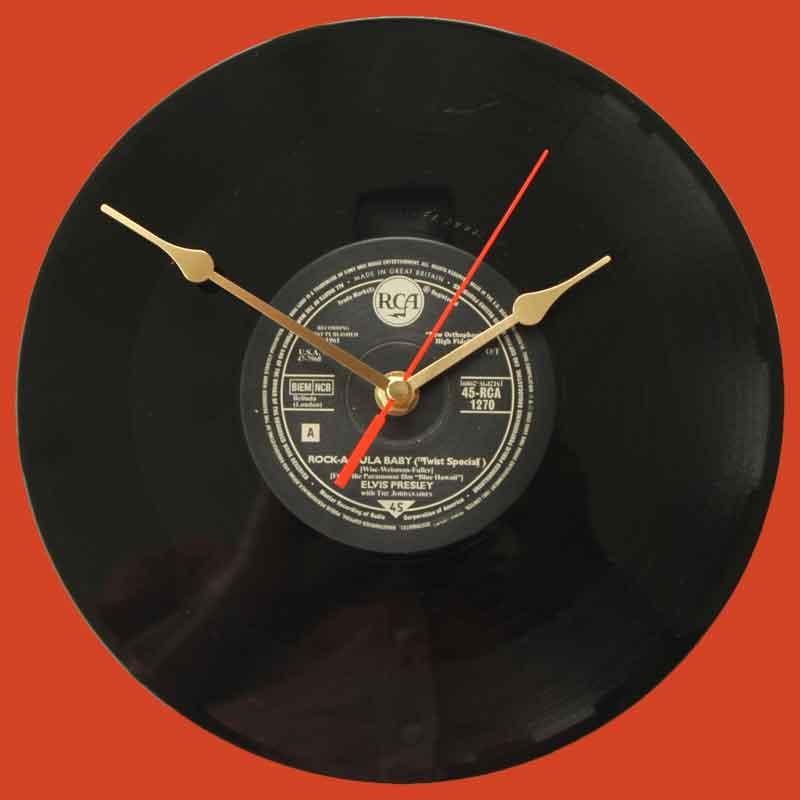 Elvis Presley Rock A Hula Baby Vinyl Clocks